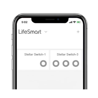 2. Trigger switch from mobile with LifeSmart App.